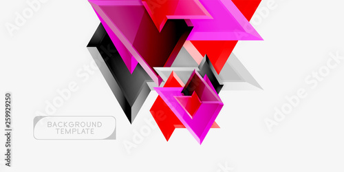 Triangular low poly background design, multicolored triangles. Vector #259929250