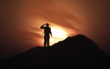 3D Silhouette Of A Soldier Sal...