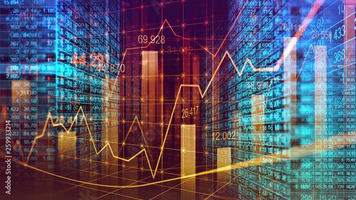 Fotografía  Digital binary code matrix background in graphic concept