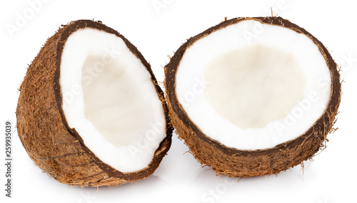 Pinturas sobre lienzo  coconuts isolated on the white background  with clipping path