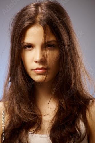Photo Portrait of blowzy girl