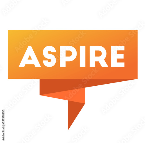 aspire stamp on white Canvas Print