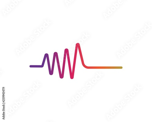 Sound waves vector illustration Canvas Print