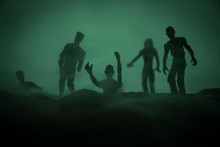 Silhouette Some Zombies On The...