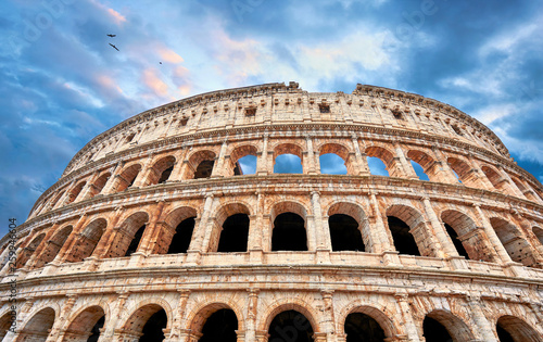 Vászonkép Colosseum (Coliseum or Colosseo) in Rome, Italy