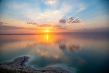 Amazing Sunset Over Dead Sea, ...