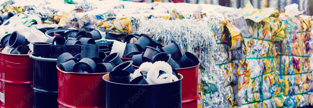 Fototapety, obrazy: Pile of waste, Junk, Garbage removal hazardous waste