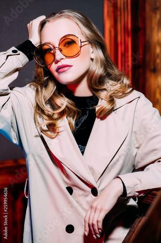 fashionable stylish woman