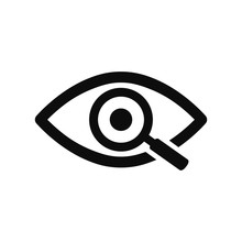 Magnifier With Eye Outline Ico...