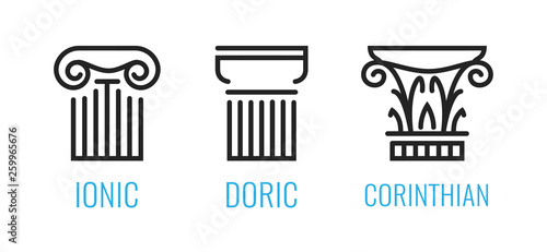 Ionic orders of ancient Greece Fototapet