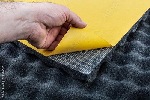Valokuva Acoustik sponge - Acoustik foam - fire retardant egg profile foam
