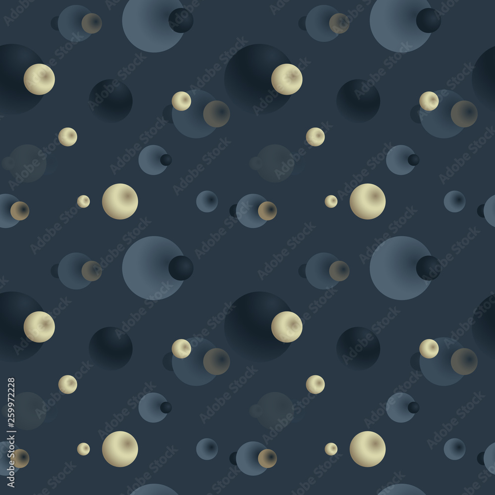 Abstract planets seamless pattern