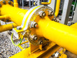 canvas print picture - Flange of fuel gas filter in power plant.