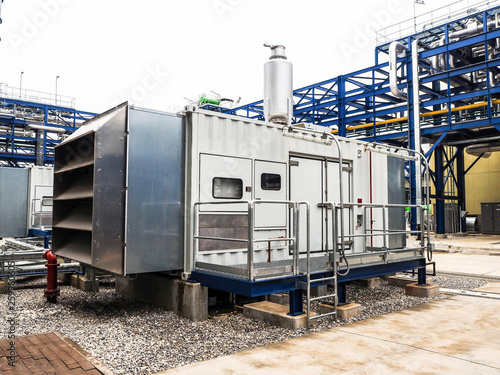 Diesel generator systems in Combined-Cycle Co-Generation power plant Fototapet