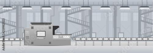 Cuadros en Lienzo Machine and conveyor belt