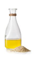 Sesame Oil In Glass Bottle