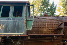 Antique Railroad Locomotive