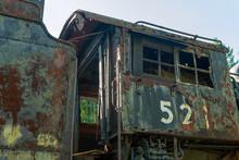 Rusty Antique Locomotive Cab