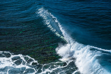Perfect Rolling Wave Of Honolua Surf Spot. North Of Maui, Hawaii