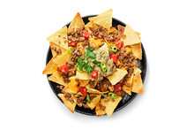 Corn Chips Nachos With Fried M...