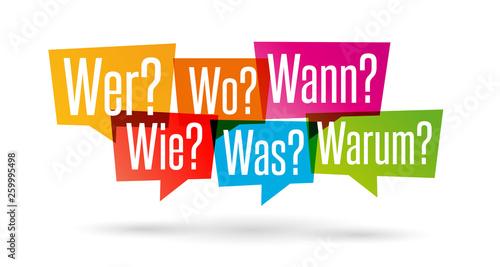 Fényképezés  W-Fragen: wer, wie, was, wo, wann, warum