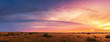 canvas print picture - Beautiful Panorama sunset and sunrise at west coast national park , soth africa