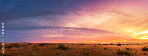 Beautiful Panorama sunset and sunrise at west coast national park , soth africa Canvas Print