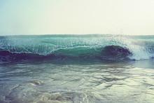 Wave Blue Crashing Detail Ocean Wave
