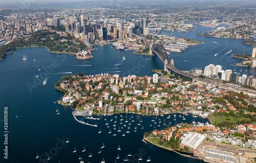 Canvas Prints Sydney Sydney CBD aerial view - NSW Australia