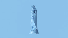 Pale Blue Mary An Child Statue...
