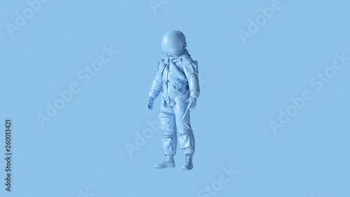 Fotografía  Pale Blue Spaceman Astronaut Cosmonaut Advanced Crew Escape Suit 3d illustration