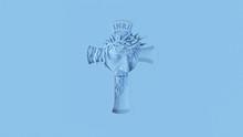 Pale Blue Jesus Cross 3d Illustration 3d Render