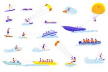 Water Sports Cartoon Vector Il...
