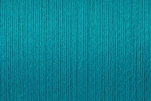 Macro Picture Of Turquoise Thread Texture Background