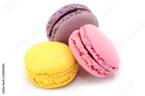 Deurstickers Macarons Drei Macarons
