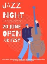 Announcement Jazz Night Open Air Fest Flat Poster