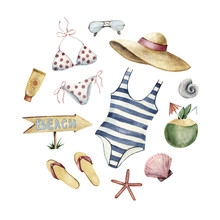 Summer Beach Vacation Apparel Forming Round Shape