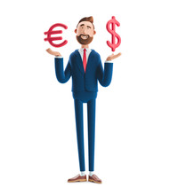 3d Illustration. Businessman B...