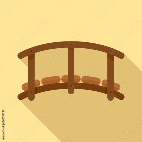 Fototapeta Small wood bridge icon