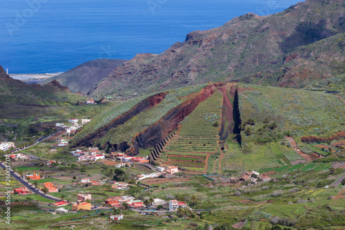 Printed kitchen splashbacks Canary Islands Village in the mountain at Tenerife. Canary Islands. Spain.
