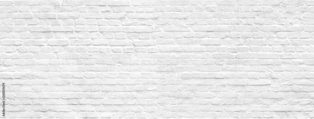 Fototapeta White brick wall background seamless pattern