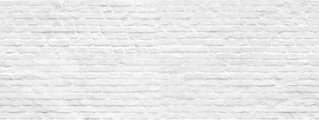 White brick wall background seamless pattern