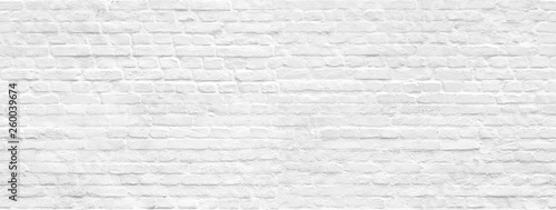 Fototapeta White brick wall background seamless pattern
