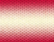 Red And White Gradient Snake Skin Pattern, Sharp Scale