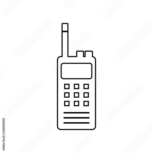 portable radio icon  Element of Police for mobile concept