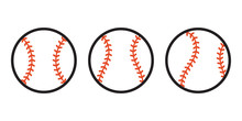 Baseball Ball Icon Vector Symb...