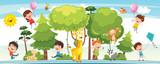 Fototapeta Fototapety na ścianę do pokoju dziecięcego - Vector Illustration Of Kids Nature Concept