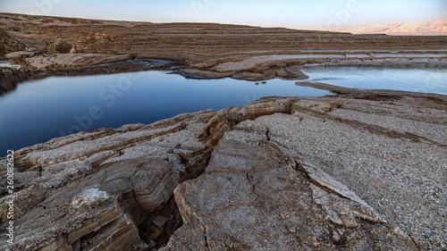 Fotomural Dead sea sinkholes