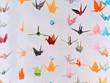 Leinwanddruck Bild - Japanese origami hanging and colorful
