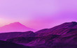 Leinwanddruck Bild - Purple Mountain Landscape